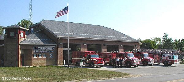 Station 63 With Firetrucks Out Front